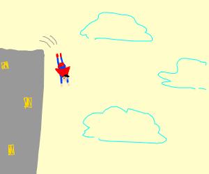 Superman  jumps
