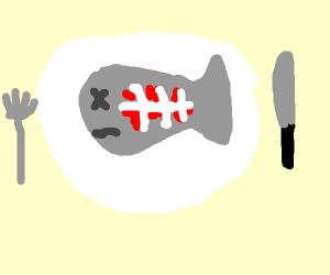 fancy fish bones