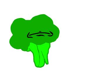 A broccoli with a face