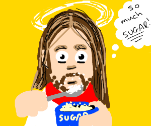 Jesus eating Sugar