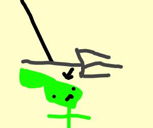 Putting a fork in an alien