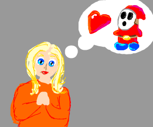 Blonde girl likes shy guy