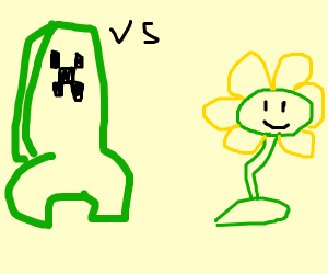 Creeper vs Flowey