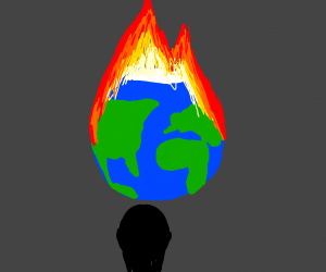 man wants to see the world burn