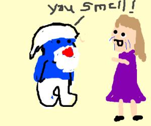 Papa Smurf insulting woman
