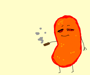 some cheeto puff taking weed