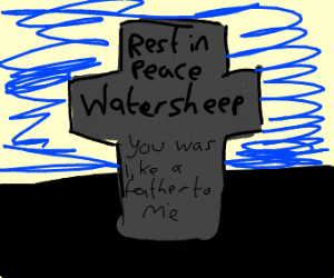 Rest in Peace water sheep