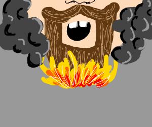 bread on fire