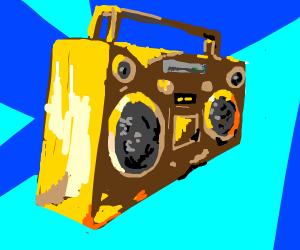 Golden boombox.