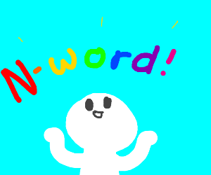 Colorful letters forming the N-word