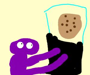 Little Purple monster wants a cookie