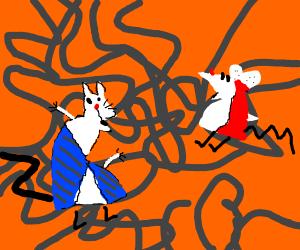 Bootleg cat and mouse cartoon