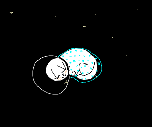 sleeping space kitty