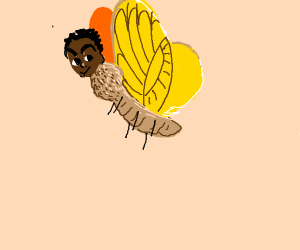 Butterfly with a human head