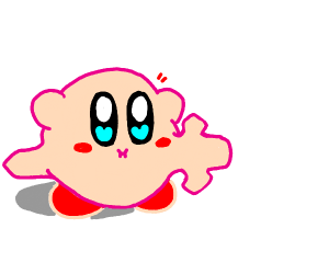 Kirby inhales a sword