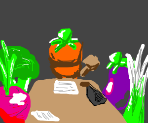 Vegetables Having A Council Meeting