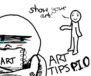 art tips p.i.o; don't give up!