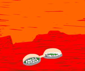 A colony on Mars