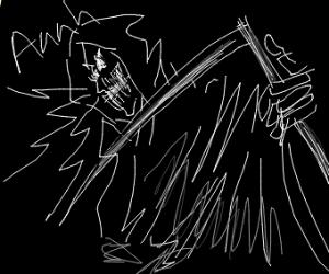 Screaming grim reaper