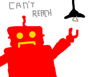 red robot needs help