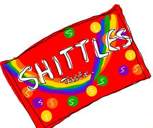 Off brand skittles