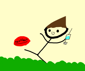 football player with a syringe