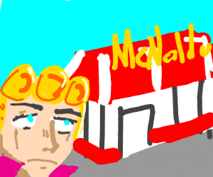 "Giorno walking to ""McNaldo's"""