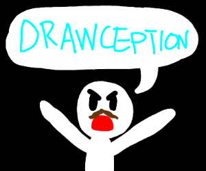 Man yells drawception