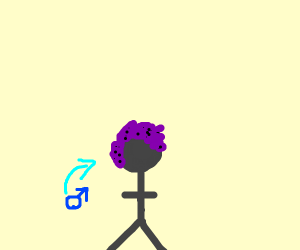 guy with purple-black hair