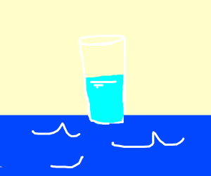 water on water