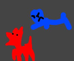 Blue attack dog