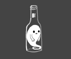 ghost in bottle