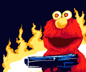 evil elmo wants to kill you