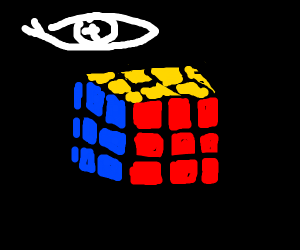 cube being tortured by an eye