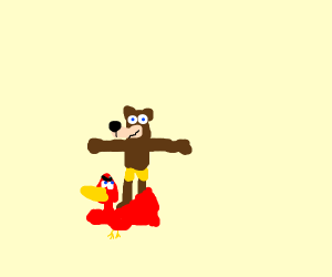 Banjo and Kazooie swap their roles