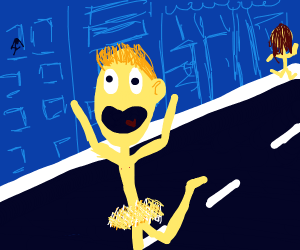 step 2: naked people run around in the street