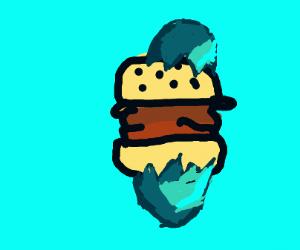 Cheeseburger in an egg shell