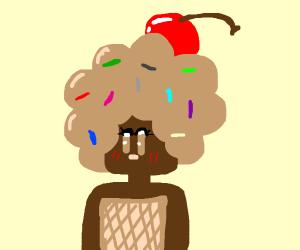 chocolate ice cream girl