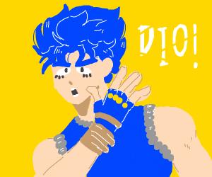 Blue haired anime boy