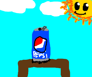 A Pepsi can
