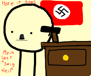 Hitler is about to commit die