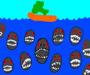 broccoli vs piranha