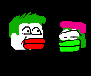 Clown Pepe consoling Sad Gay Pepe