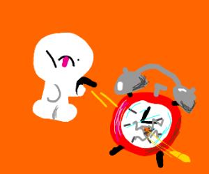 Man shoot his alarm clock