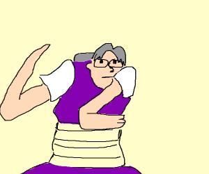 Creepy anime glasses guy