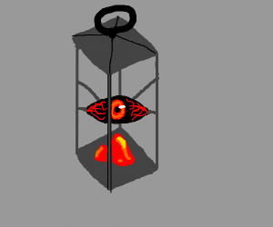 The lamp is a eye