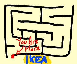 A map of an ikea
