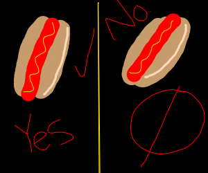 no hot dogs on the right