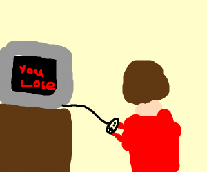 loser looses a video game