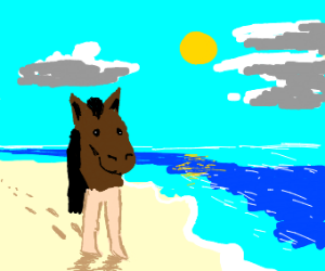 centaur but horse and human parts are reverse